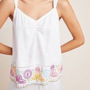 Anthropologie Pennbrooke Embroidered Sleep Cami L